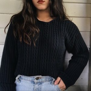 Vintage cropped cable knit Sweater